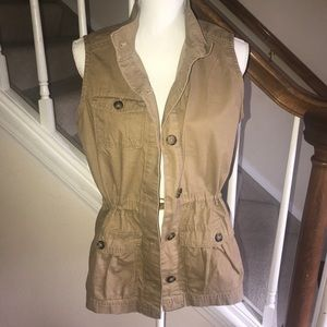 Old Navy safari vest tan brown size M